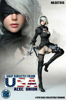 SUPERDUCK 1/6 Nier Automata YoRHa No.2 Type B Head Sculpt Phicen Figure Set USA