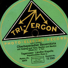TEGERNSEER LÄNDLER-KAPELLE  Oberbayerischer Bauernkirta  1&2     78rpm     S6466