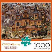 "Buffalo Games Charles Wysocki ""Trick or Treat Hotel"" 1000 Piece Jigsaw Puzzle"