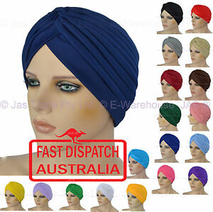 Turban Retro Costume Fitted Head Cover Wrap Hat Cap Hair Loss Chemo Bandana