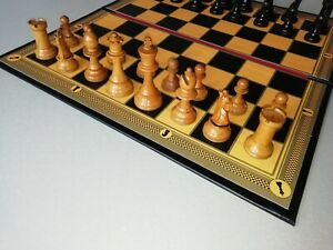"""Large Leather Folding Chess Board with 2""""squares"""
