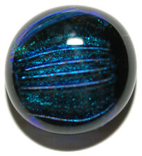 DARK ROYAL BLUE FUSED GLASS TIE PIN TACK (145)