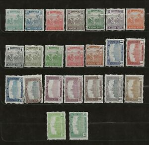 HUNGARY Sc 174-97 NH issue of 1919 - COMPLETE SET OF 23 STAMPS