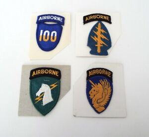 Embroidered Military Patches Airborne 100 New Old Stock 4 Piece Estate Lot