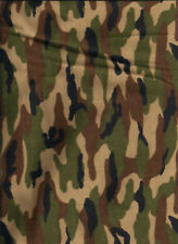 New Green Camouflage 100% Cotton Flannel Fabric by the yard (camo)