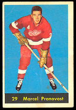 1960 61 PARKHURST HOCKEY #29 MARCEL PRONOVOST VG DETROIT RED WINGS FREE SHIP USA