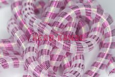 "Metallic Fuchsia Opal Stripe Tubular Crin Cyberlox 3/4"" 10 Yards"