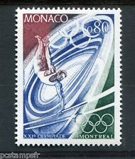 MONACO - 1976, timbre 1058, SPORT, BARRES..., JEUX OLYMPIQUES MONTREAL, neuf**