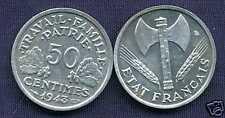 50 centimes BAZOR 1943   SUP ++