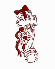 1042:  Machine Embroidery Designs - Christmas Stockings - Redwork