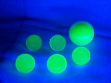 6 ULTRAVIOLET UV  VASELINE URANIUM GLASS 5 -9/16 & 1 SHOOTER MARBLES ((id174123