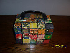 Wood B0X Purse Handcrafted With Patchwork