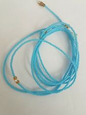 """Two Sexy African Single Waist Beads, Blue 22""""inches long New FREE P&P"""