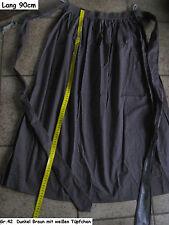 Gr.42 XXL 90cm Trachtenschürze Trachten Dirndl Schürze braun weis Punkte BW