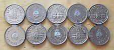 Argentina 1960 Peso, KM-58, UNC, Anni. Of Removal Of Spain, Lot Of 10 (#a6)