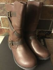 New Toddler Girls Brown Stride Rite Shake N Flake Boots Size 13