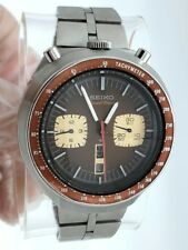 SEIKO CHRONOGRAPH AUTOMATIC 6138-0040 BULLHEAD DAY DATE ENGLSH JAPANESE SERVICED