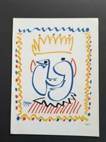 Pablo Picasso, Carnaval The King 1951 Vintage Poster Offset Lithograph 1964