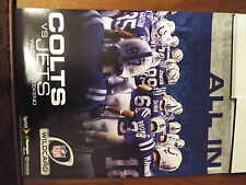 "NFL INDIANAPOLIS COLTS ""ALL IN 2010"" WILDCARD GAME AGAINST NEW YORK JETS POSTER"