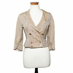 Louis Vuitton Spring 2007 Beige Silk Linen Double Breasted Jacket