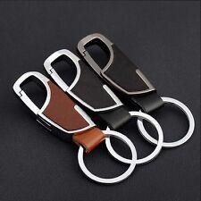 Mens Metal Key Chain Pu Leather Car Key Ring Chain Waist Belt Hanging Keychain