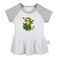 Link Zelda PikaLink Newborn Baby Girls Dress Infant Cotton Clothes Toddler Tops