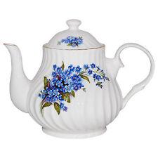 Crown Trent Fine English Bone China 4 Cup Teapot Tea Pot FORGET ME NOT