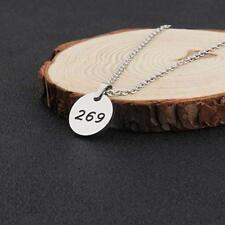 Vegan 269 Necklace Stainless Steel Number Jewelry Animal Rights Hypoallergenic
