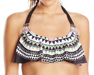 Bikini Lab Junior Womens Empire Of The Sun Fun Hanky Crop Bikini Top Size Medium