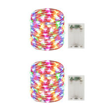2 Pack Battery Operated Mini Led Fairy Light with Timer,30 Count Multi Color Led