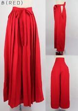 JAPANESE Woman Hakama Umanori Pants Type free size 100cm RED D5070