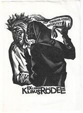 ANATOLIJ KALASCHNIKOW: Exlibris für Klaus Rödel;