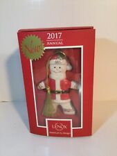 Lenox ~ 2017 Annual ~ Gingerman Claus ornament Nib