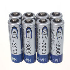 LOT 8 Piles 1.2V AA 3000mAh NI-MH rechargeables batteries pour Jouets Caméra
