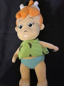 "THE FLINTSTONES PEBBLES PLUSH STUFFED 10"" DOLL BY TOY FACTORY"