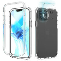 For iPhone 12 Pro Max Mini Case Clear Slim Hybrid Cover+Camera Lens Protector