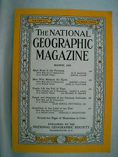 National Geographic Magazine -  March 1956  (Fossils, Ads, etc) Clearance Price