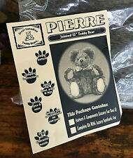 """Vtg Retro 1999 Pierre * Jointed 15"""" Teddy Bear Making Kit by Great Canadian"""