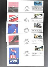 US FDC FIRST DAY COVERS WORLD WAR II 1942 1992 SET OF 10 ARTMASTER