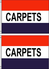 Carpets 3x5ft. Flags/Banner/Signs. Pack Of 2. Same Day Ship