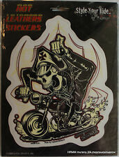 Biker Enthusiast Motorcycle Skeleton 6x8 Sticker Decal Bike
