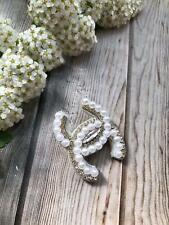 Perlenbrosche Brosche Сhаnеl Handgemacht