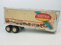 Vintage Tonka Semi Tractor White Trailer Only Truck Toy Pressed Steel