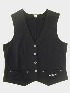 Ladies waistcoat AJC Jeans Size 18 Black Unlined Good condition VR2