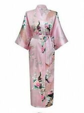 *bride Promotional Bride Long Women Kimono Robe satin silk Night dressing Gown