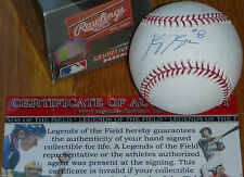 MILWAUKEE BREWERS Ryan Braun 8 AUTOGRAPHED ROOKIE 2007 BASEBALL LEGENDS COA