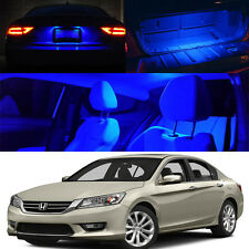 For 13-Up Accord Sedan Interior LED Xenon Light Bulb Full Package Blue QTY=14