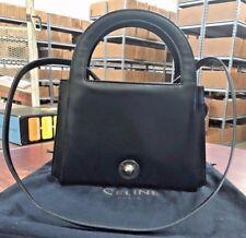 Celine black leather shoulder bag