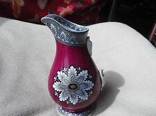 RARO Antico Brocca DORATA BORDO GRECO 4518 burgund rosso blu cobalto trasferire TLC