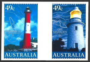 LIGHTHOUSES OF AUSTRALIA  2002 self adh.booklet pair. Perfect MNH   • FREE POST
